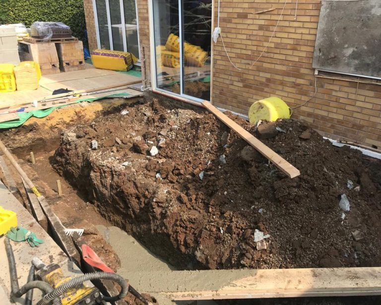 House extension groundwork